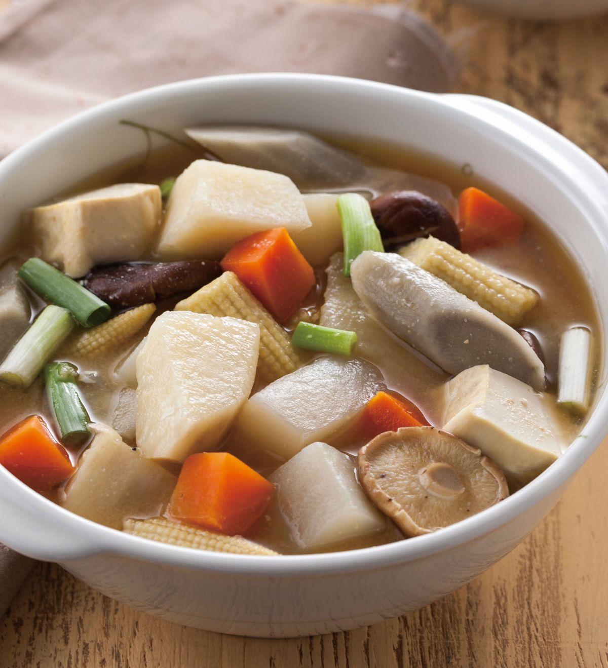 食譜:味噌燉素菜