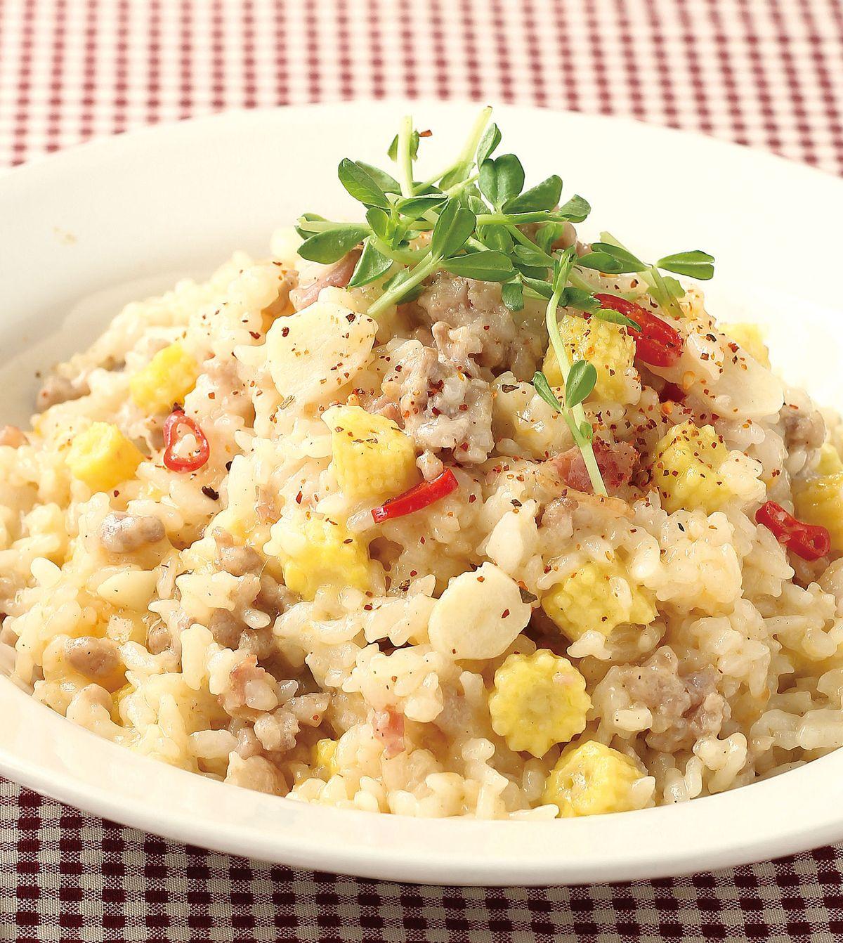 食譜:培根玉米燉飯