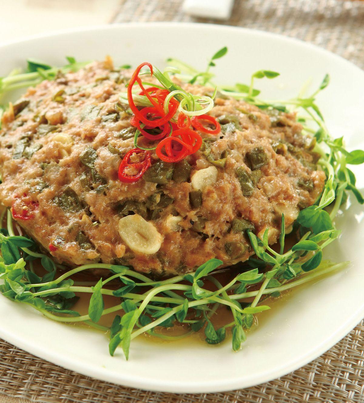 食譜:酸豇豆蒸肉