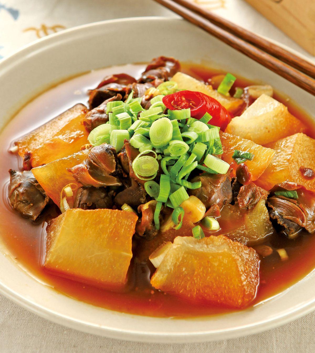 食譜:蒜苗螺肉燴冬瓜