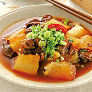 蒜苗螺肉燴冬瓜