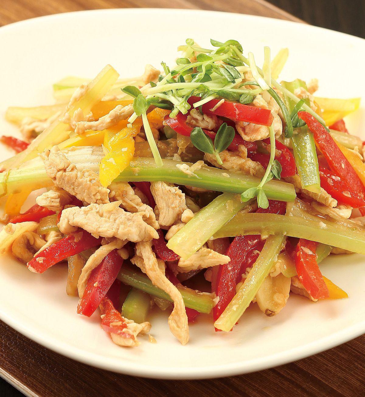 食譜:雞肉炒三絲