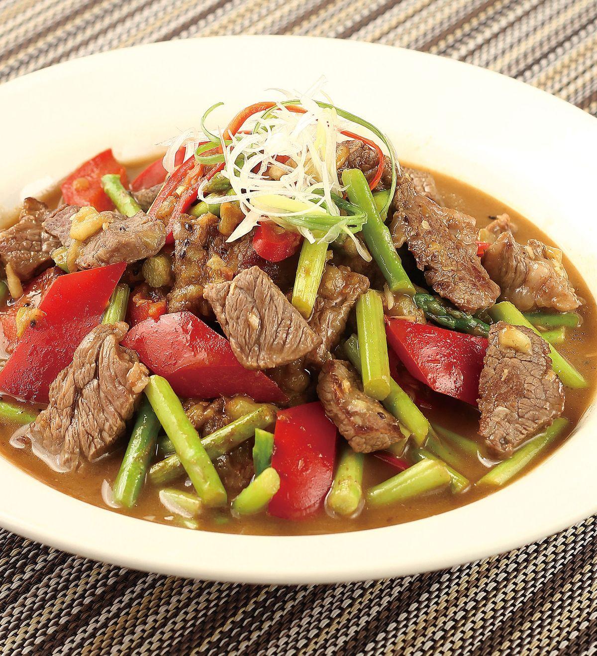 食譜:碧玉炒牛肉