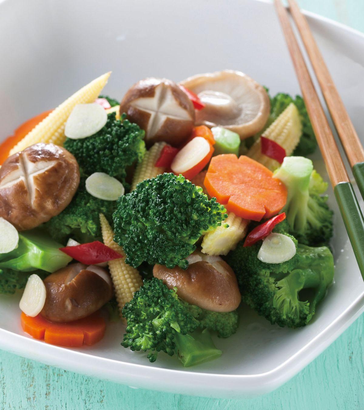 食譜:鮮香菇拌花椰菜