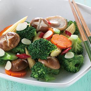 鮮香菇拌花椰菜