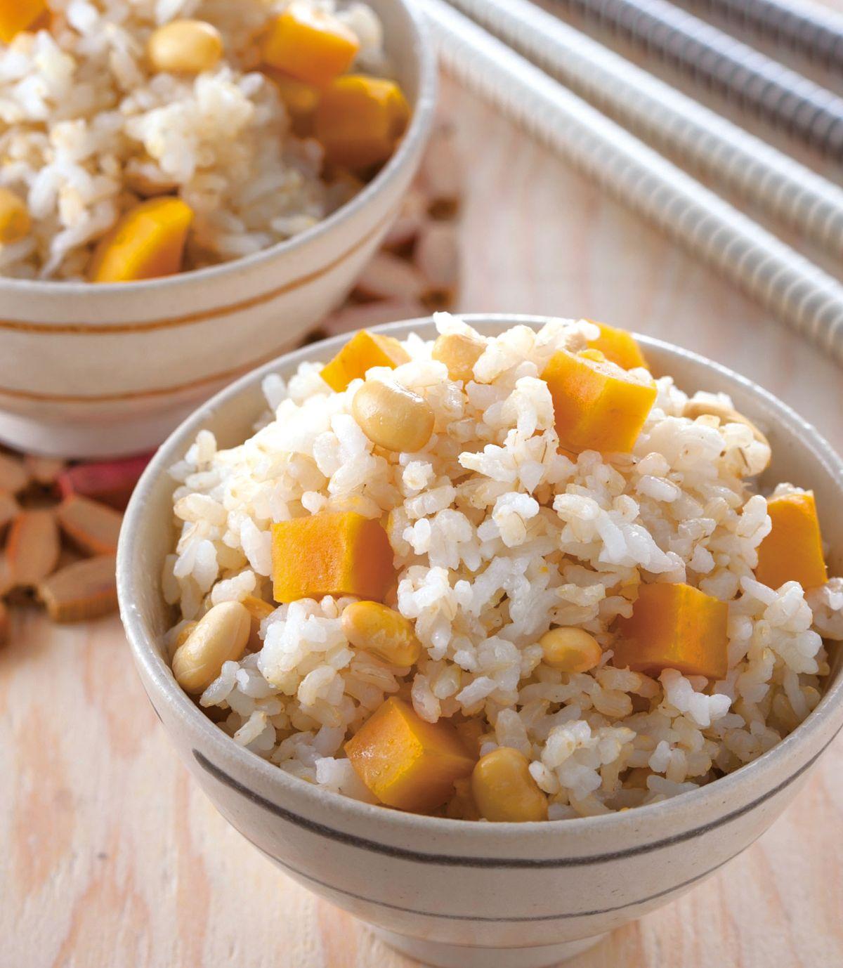 食譜:糙米黃豆地瓜飯