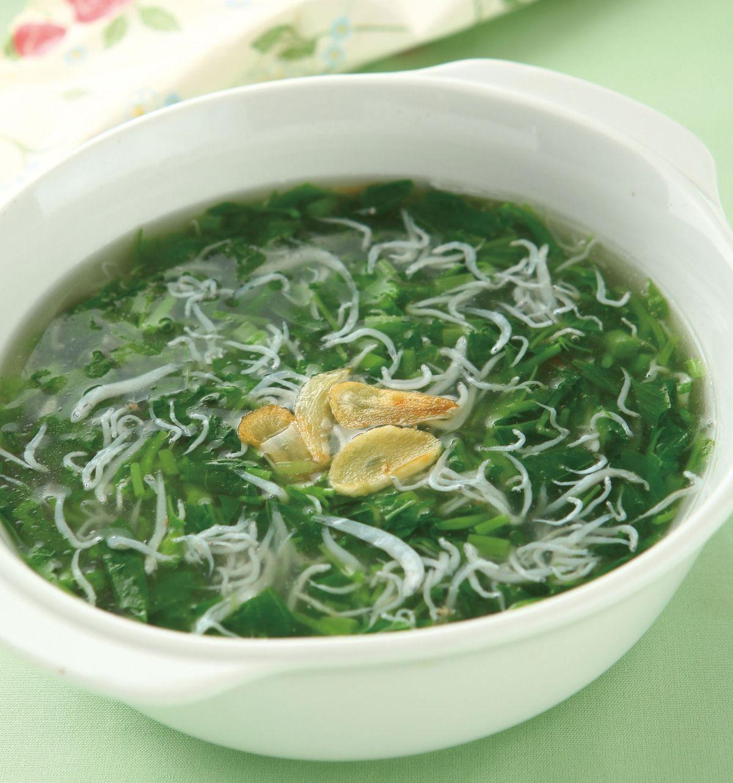 食譜:莧菜小魚湯