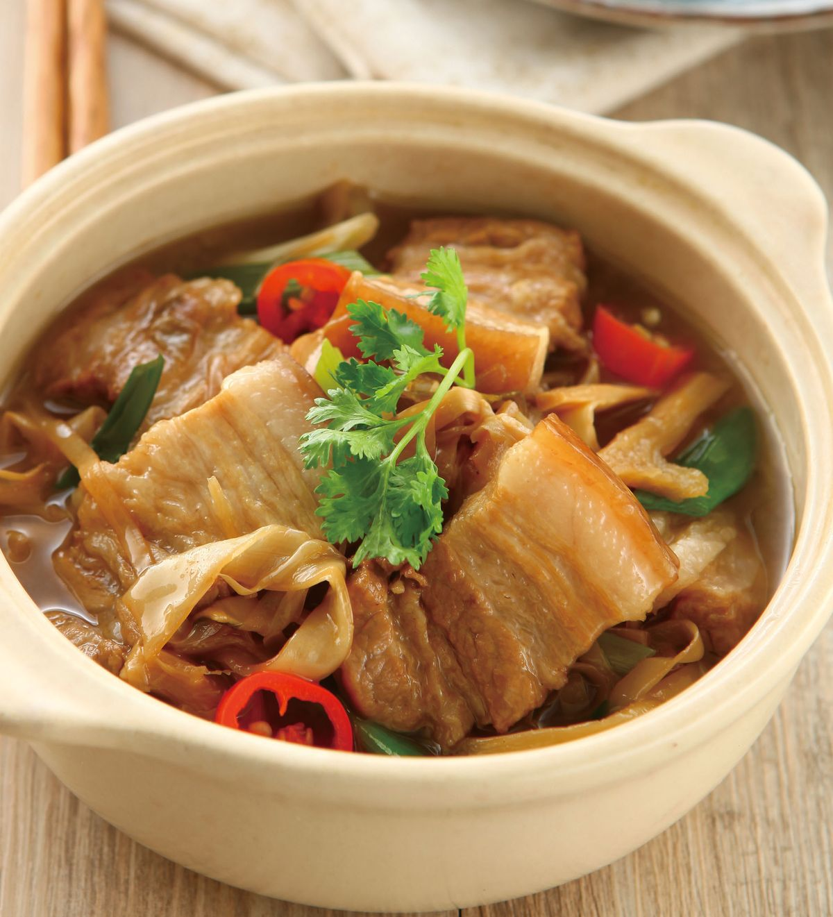 食譜:客家筍絲燉肉