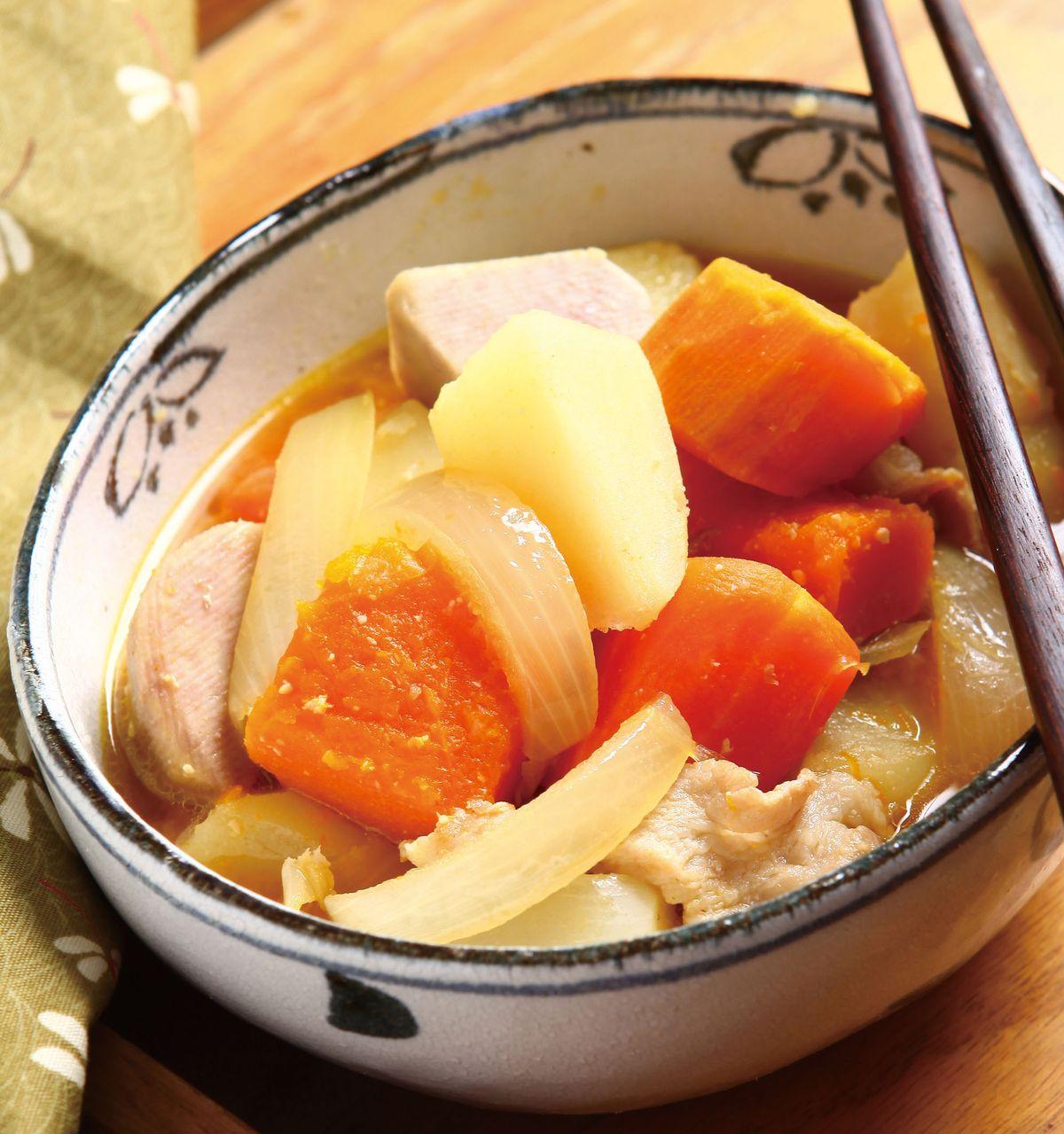 食譜:味噌滷芋頭南瓜