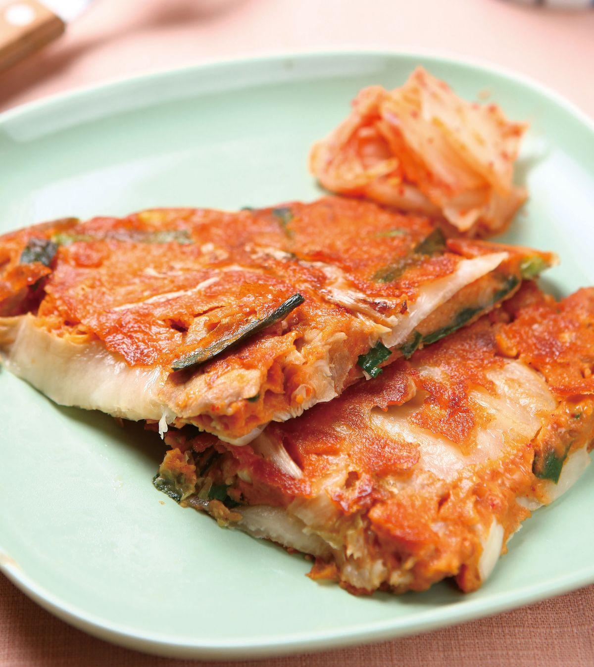 食譜:泡菜肉片煎餅