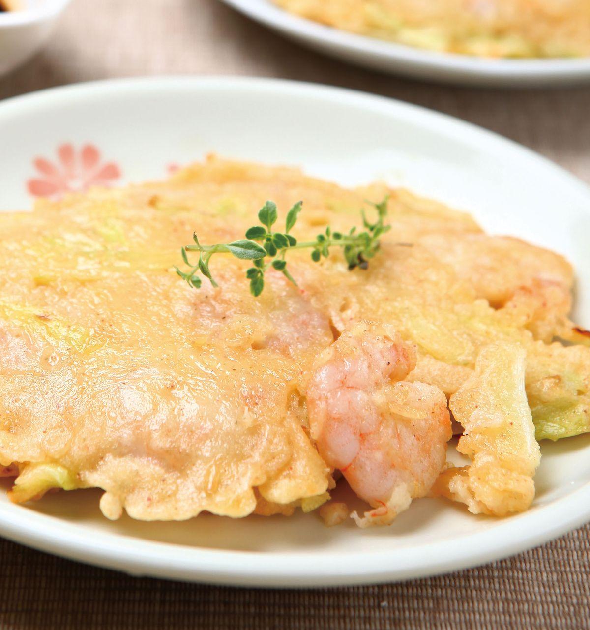 食譜:韭黃蝦仁煎餅