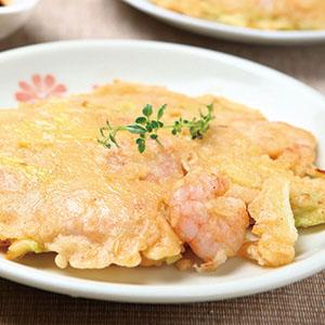 韭黃蝦仁煎餅