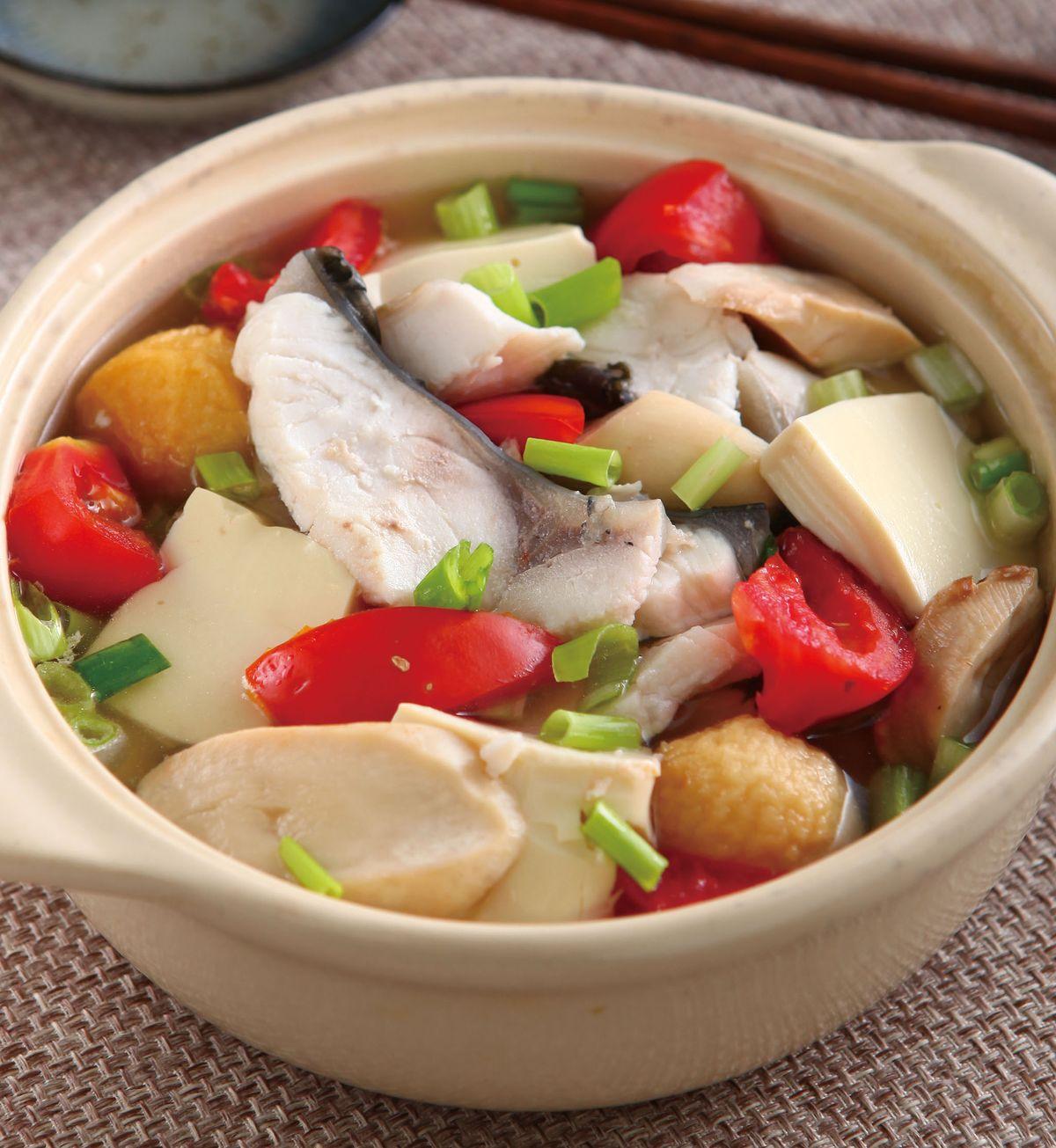 食譜:魚片豆腐煲