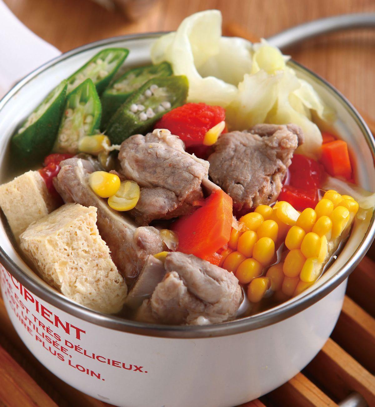 食譜:豬骨蔬菜鍋