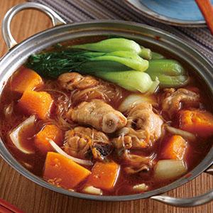 南瓜辣醬雞