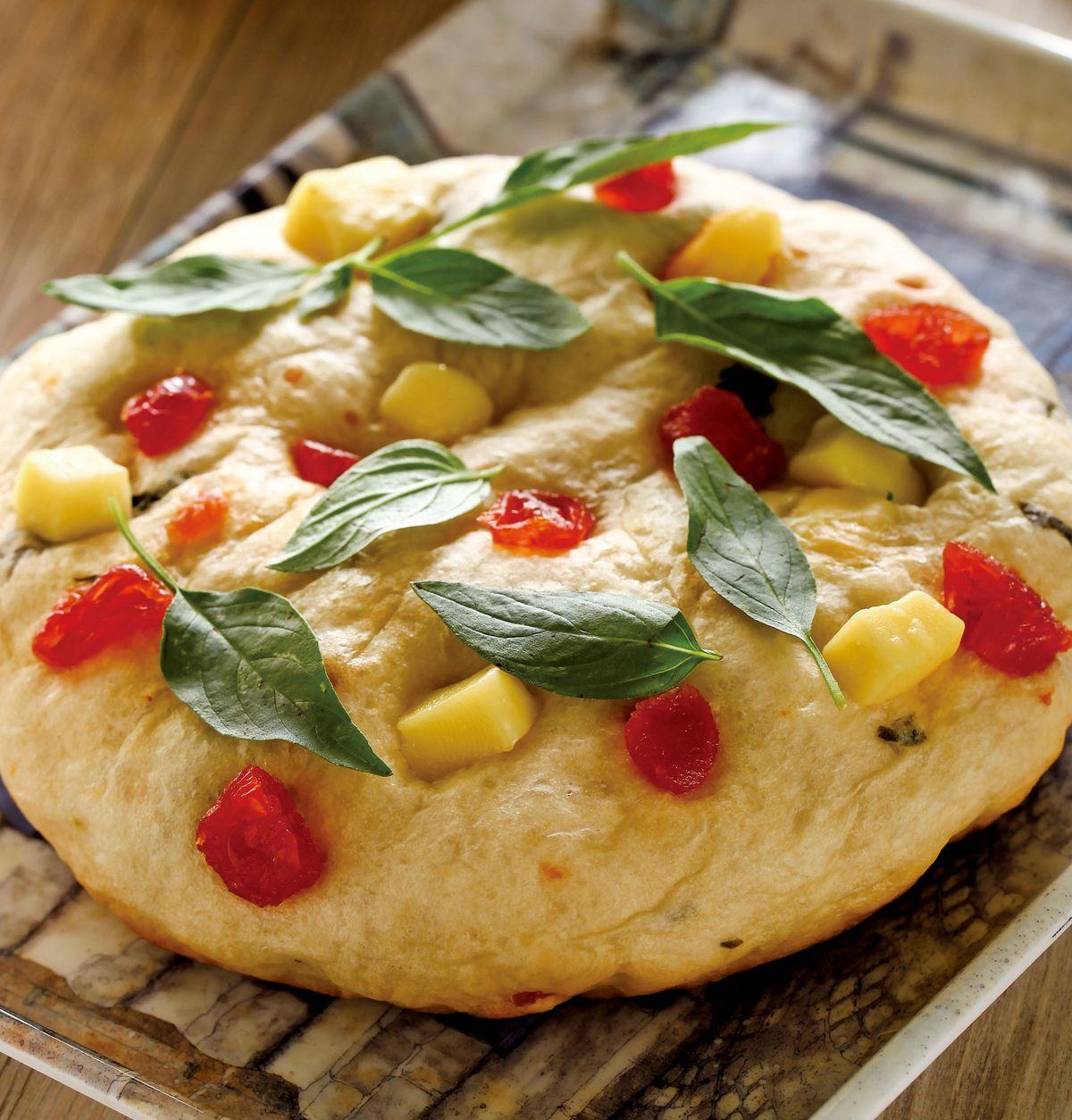 食譜:羅勒番茄乳酪麵包