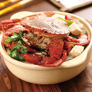 高粱豆腐螃蟹煲