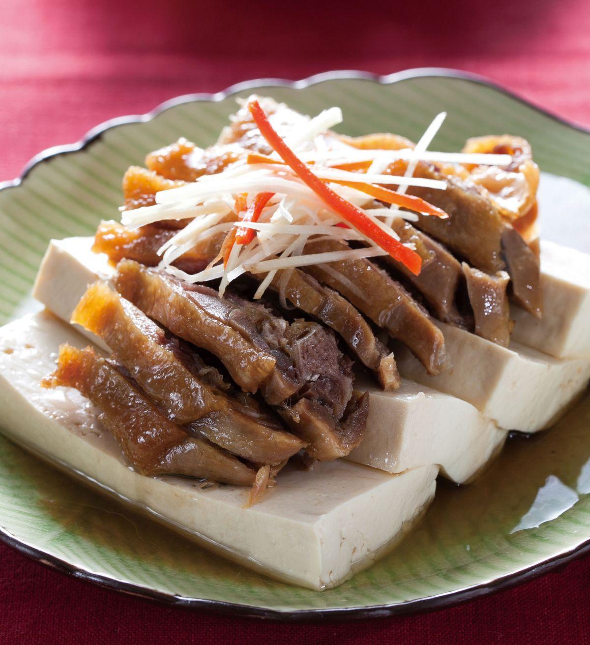 食譜:臘鴨蒸豆腐