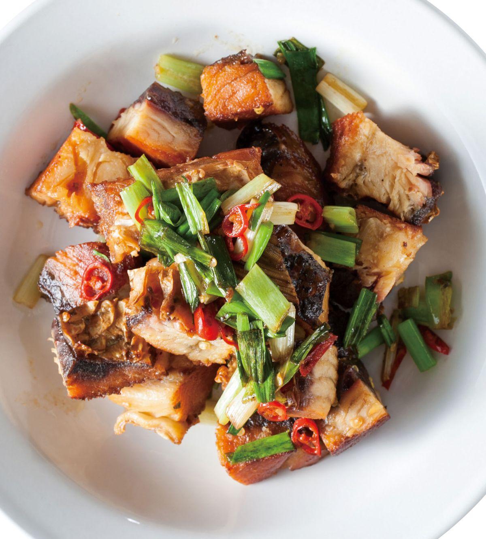 食譜:乾煸臘魚