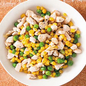 玉米炒雞丁