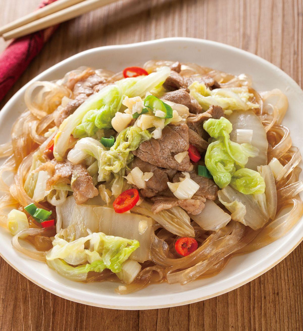 食譜:白菜燒肉片