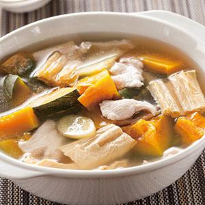 腐竹南瓜燉雞片
