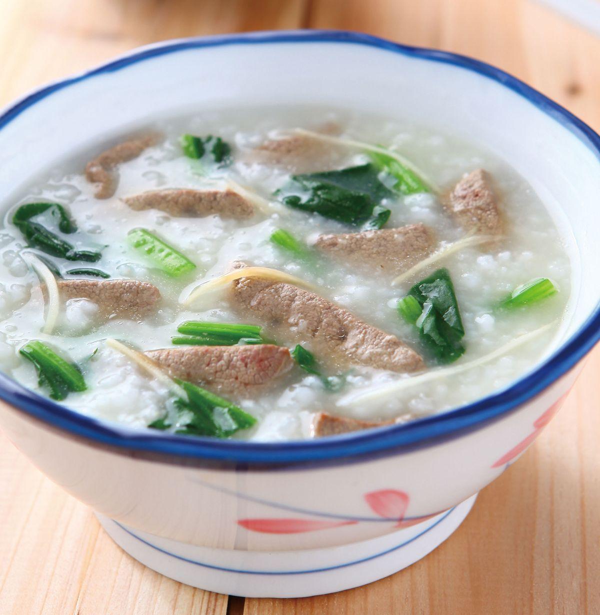 食譜:豬肝粥(3)