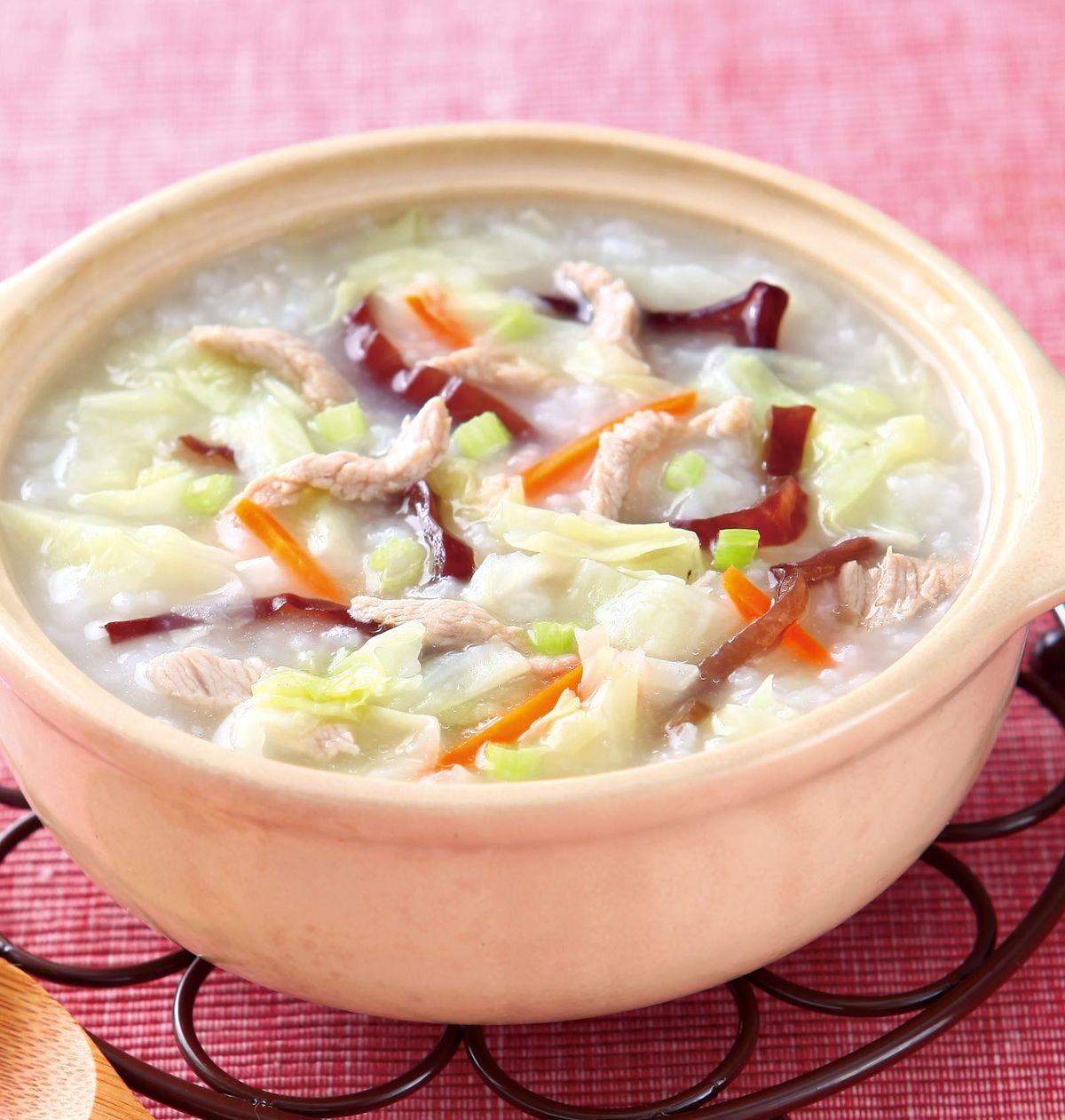 食譜:高麗菜木耳粥