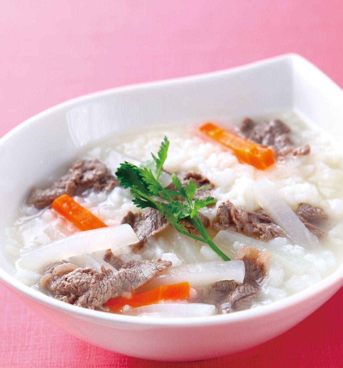 食譜:蘿蔔牛肉粥