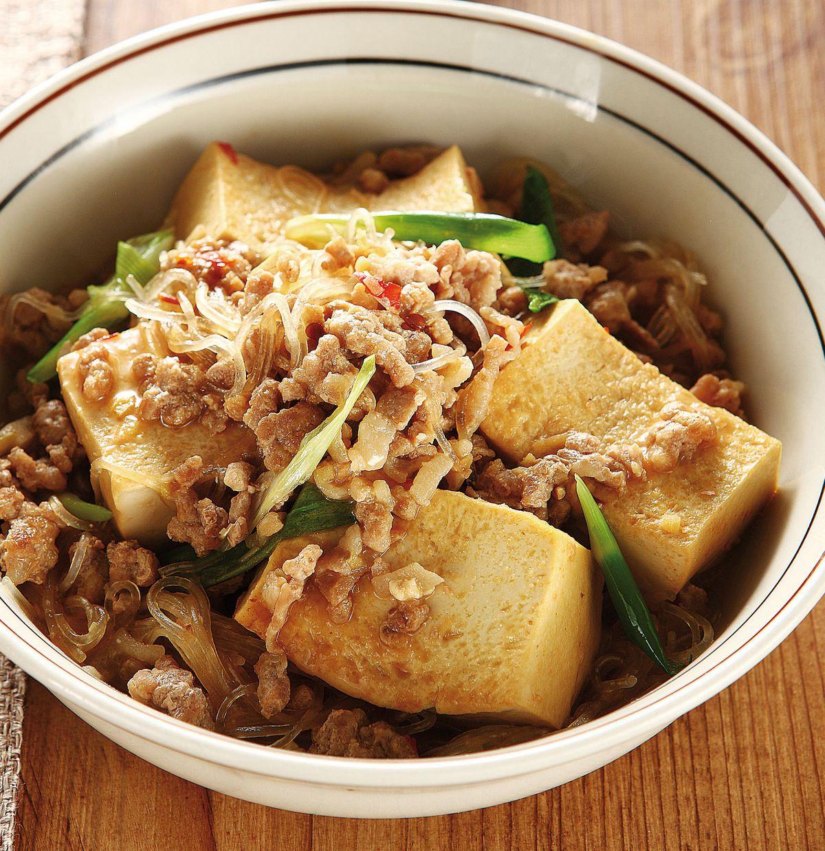 食譜:絞肉燉豆腐