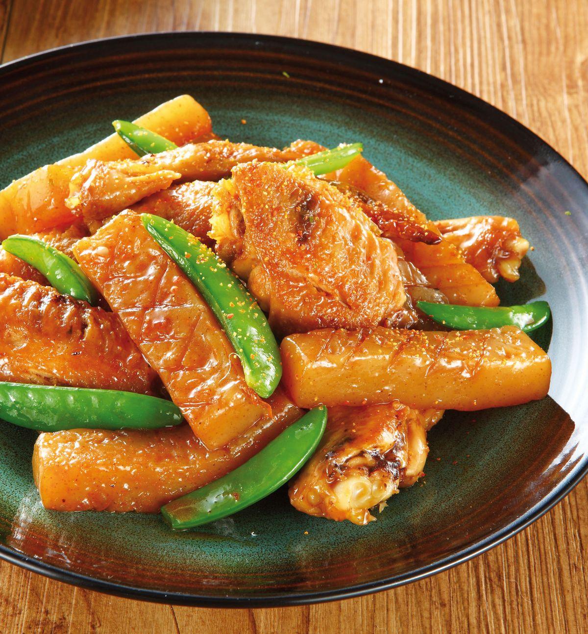 食譜:雞翅燒蒟蒻