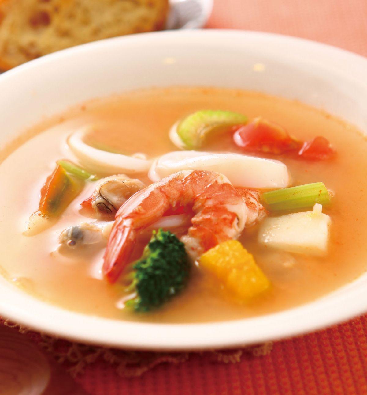 食譜:海鮮蔬菜濃湯