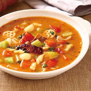 蔬菜烤雞義大利麵濃湯