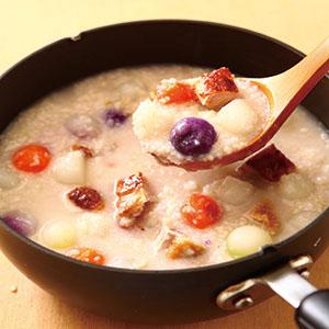 粥底雞丁菜心濃湯