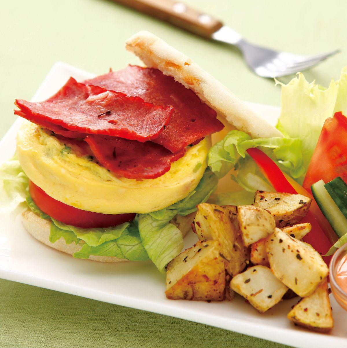 食譜:培根烘蔬菜蛋滿福堡
