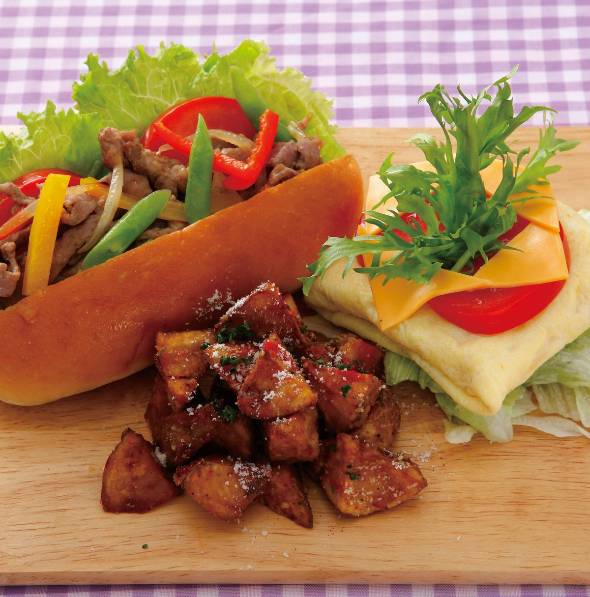 食譜:彩椒豬柳熱狗堡