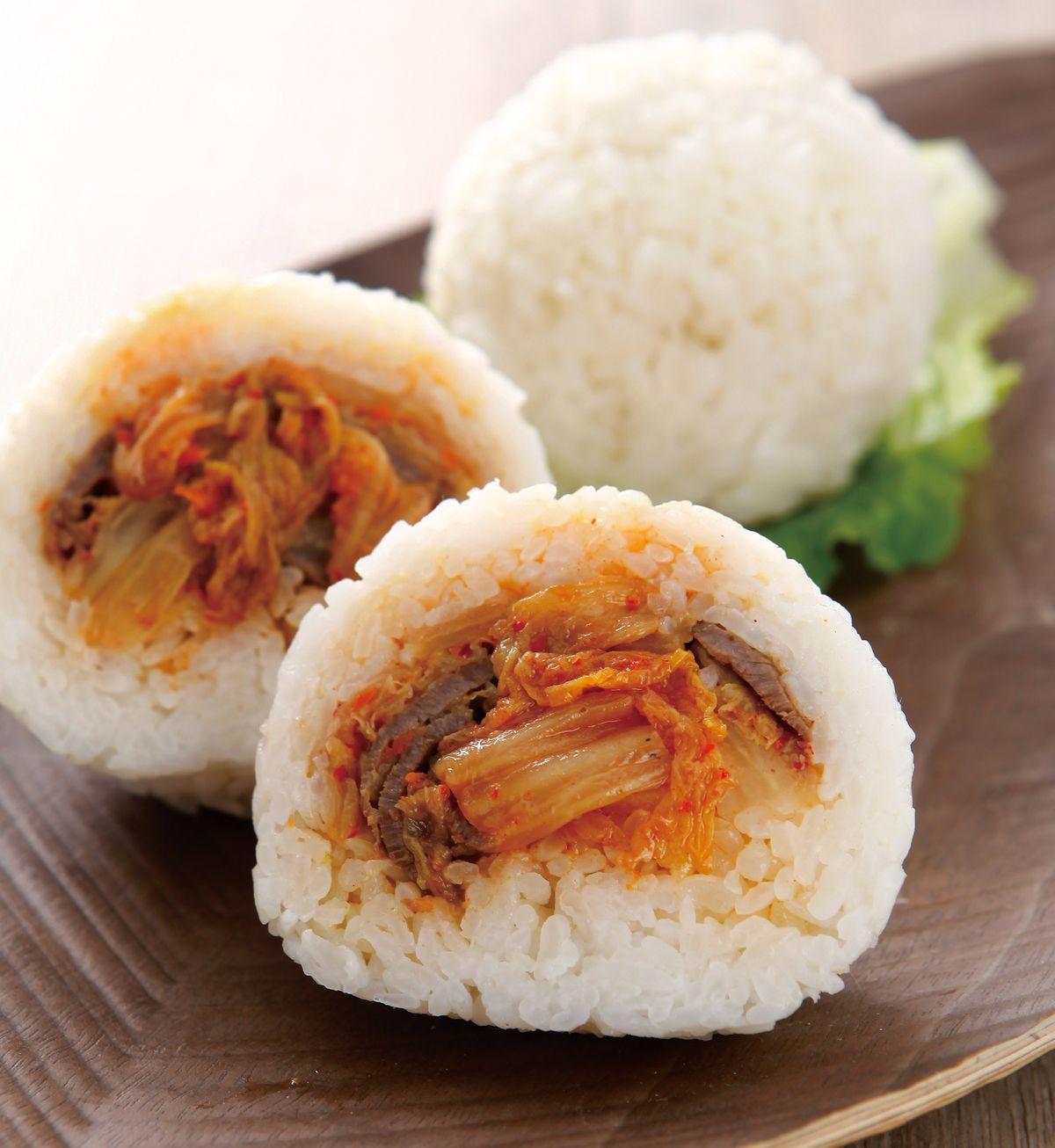 食譜:泡菜牛肉飯糰
