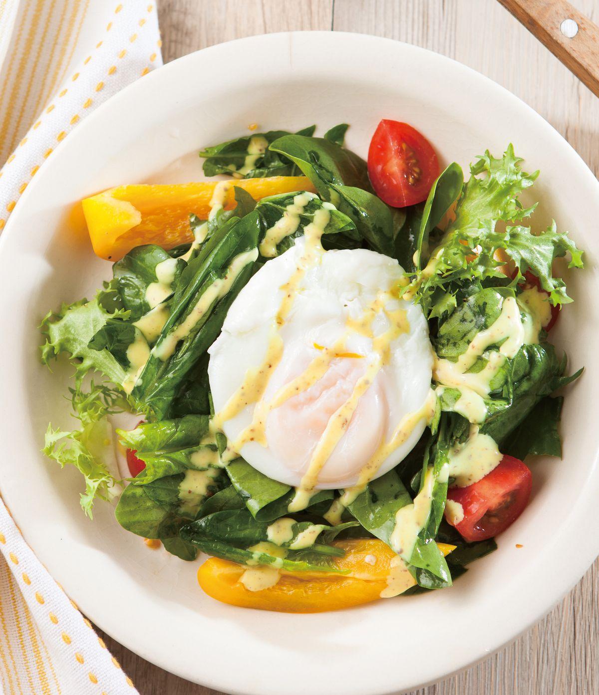 食譜:水波蛋菠菜沙拉