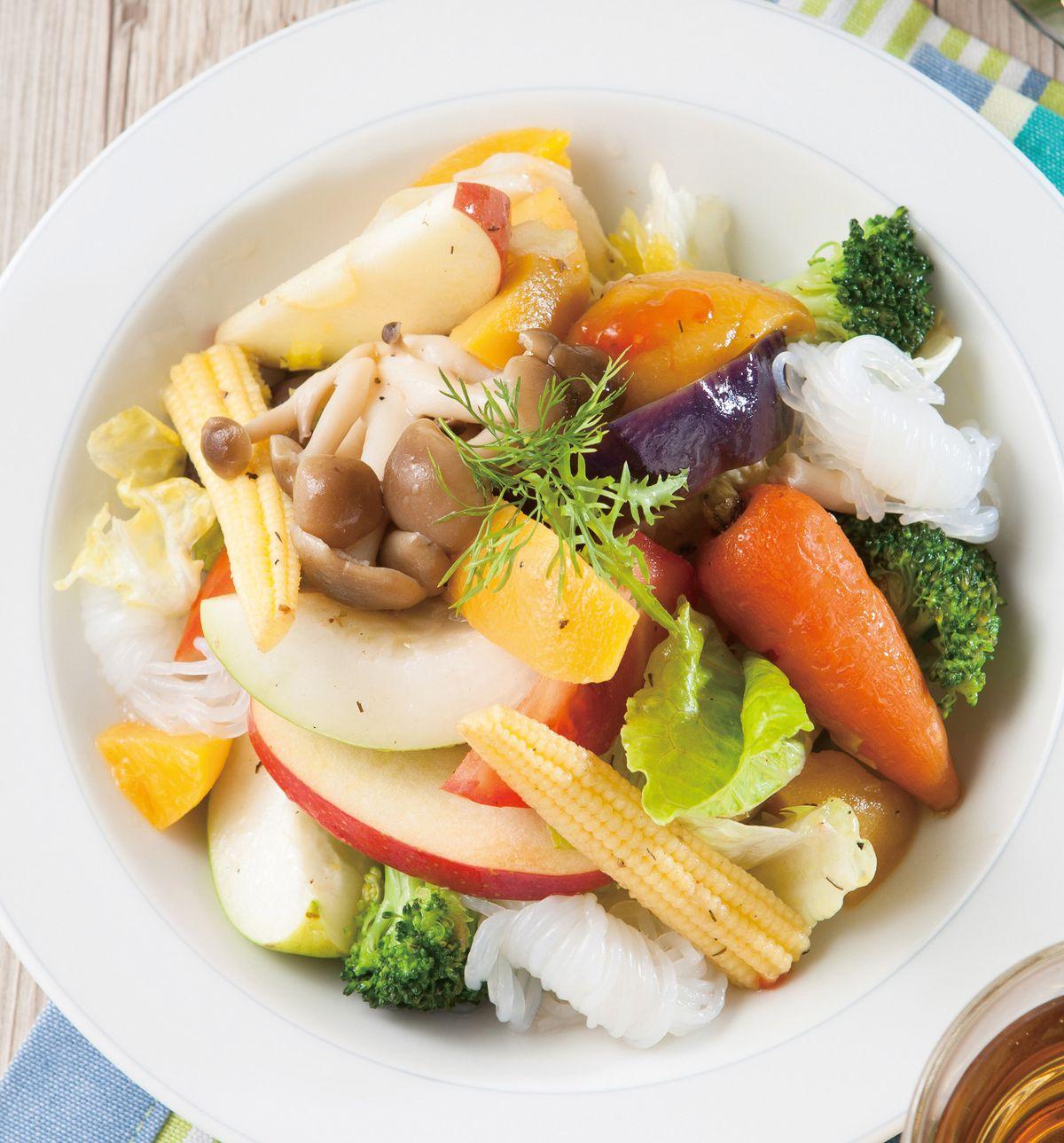 食譜:日式蒟蒻蔬果沙拉