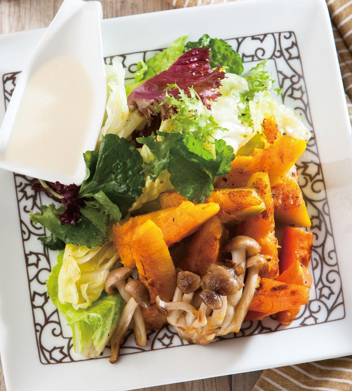 食譜:南瓜優格沙拉