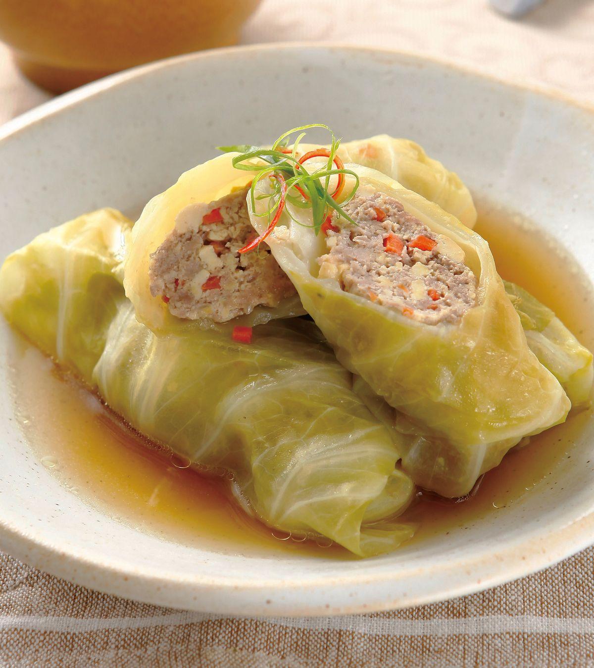 食譜:高麗菜豆腐捲