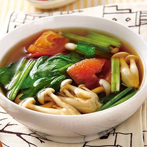 菠菜番茄鮮菇湯