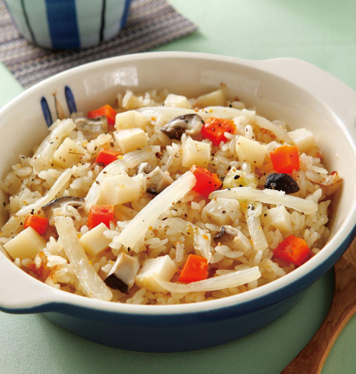 食譜:筍香白菜炊飯