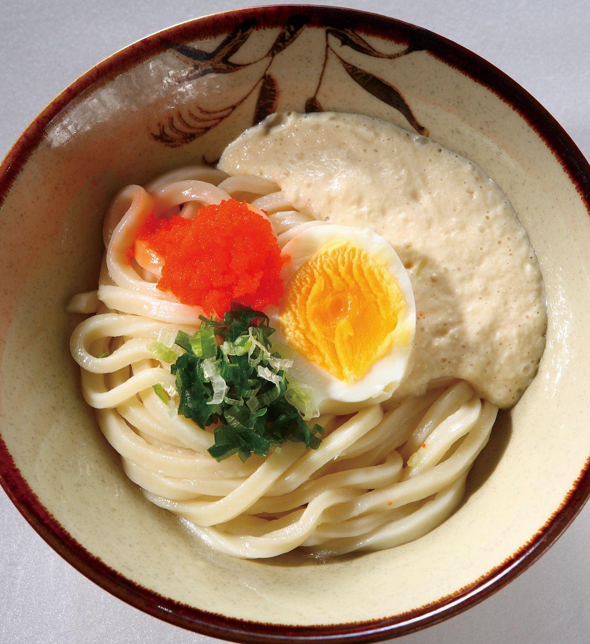 食譜:明太子山藥泥半熟蛋乾拌烏龍