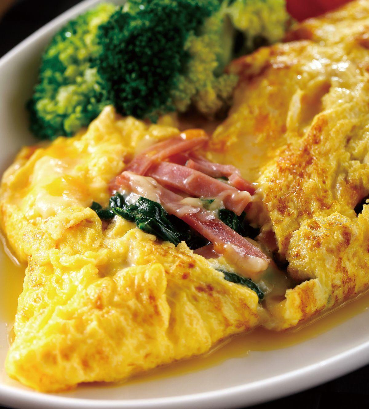 食譜:菠菜火腿蛋捲