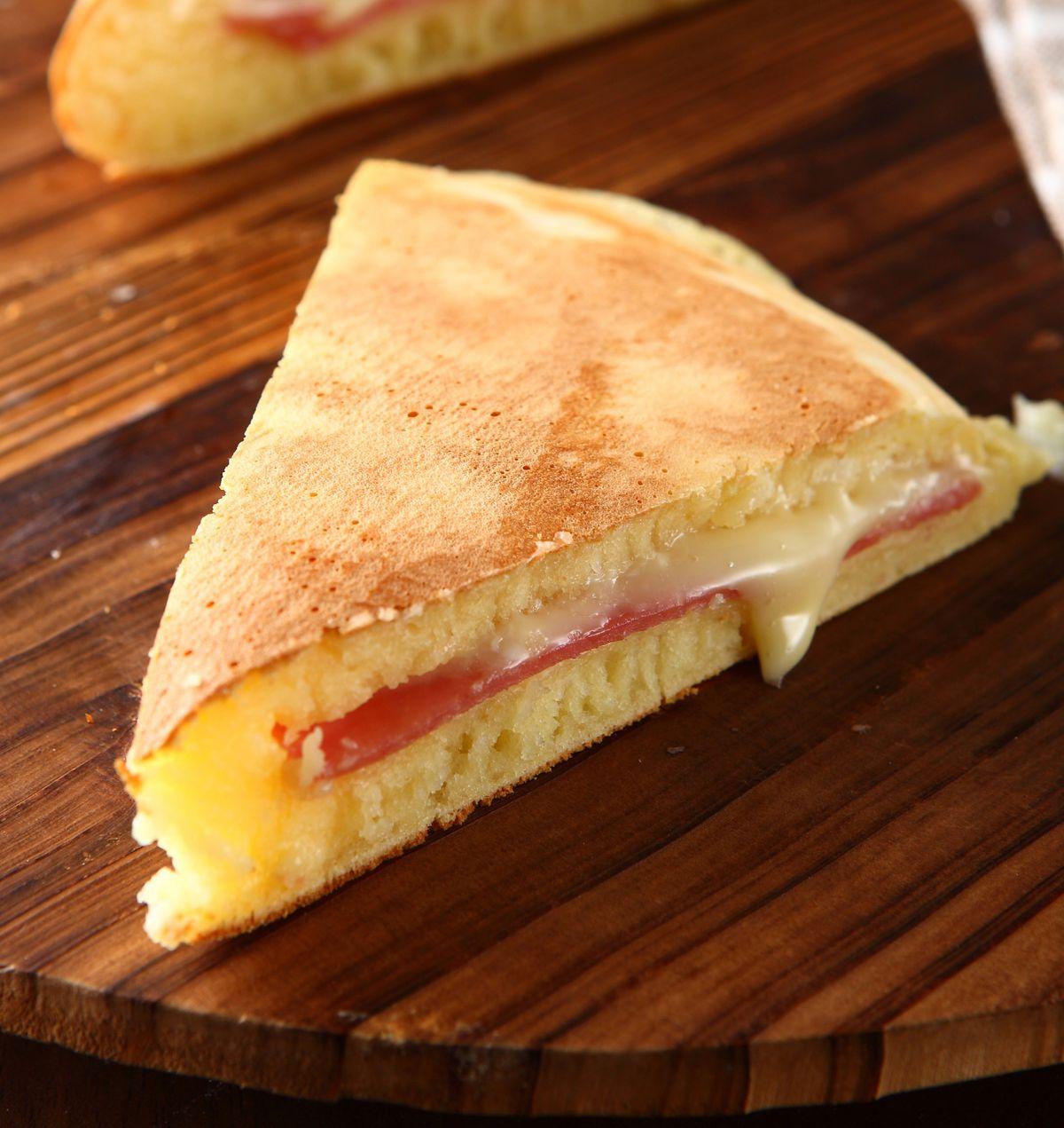 食譜:火腿起司麵煎餅