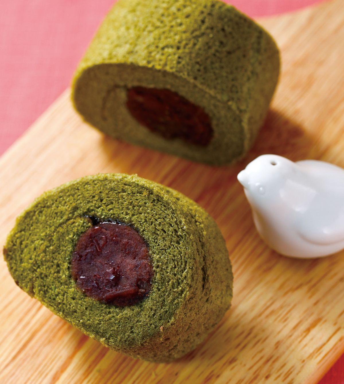 食譜:抹茶紅豆卷