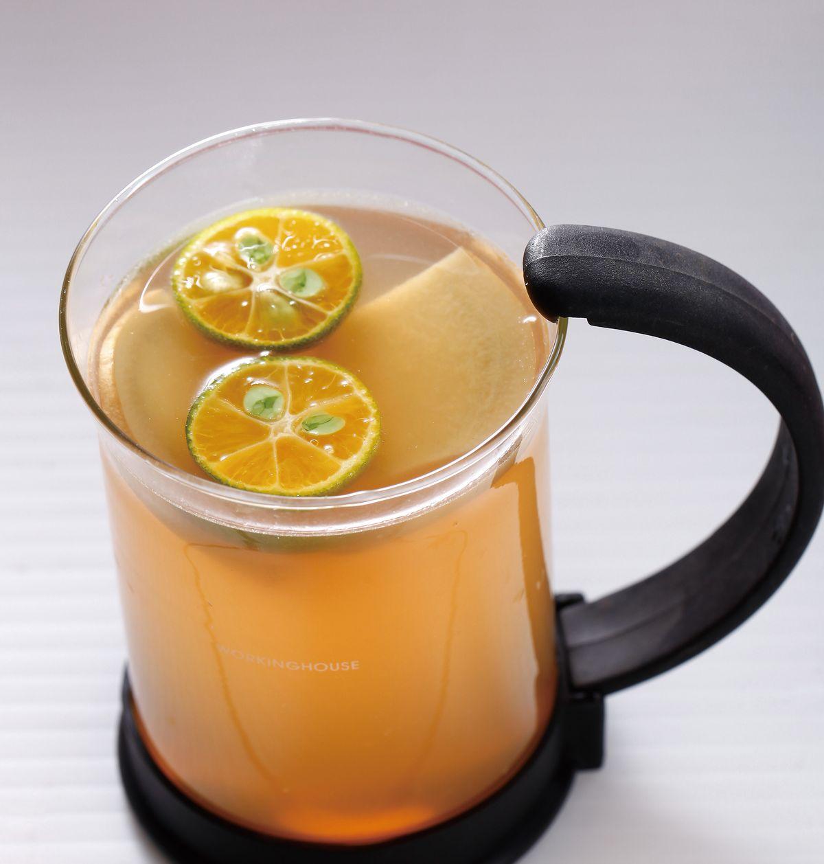 食譜:薑蜜桔茶