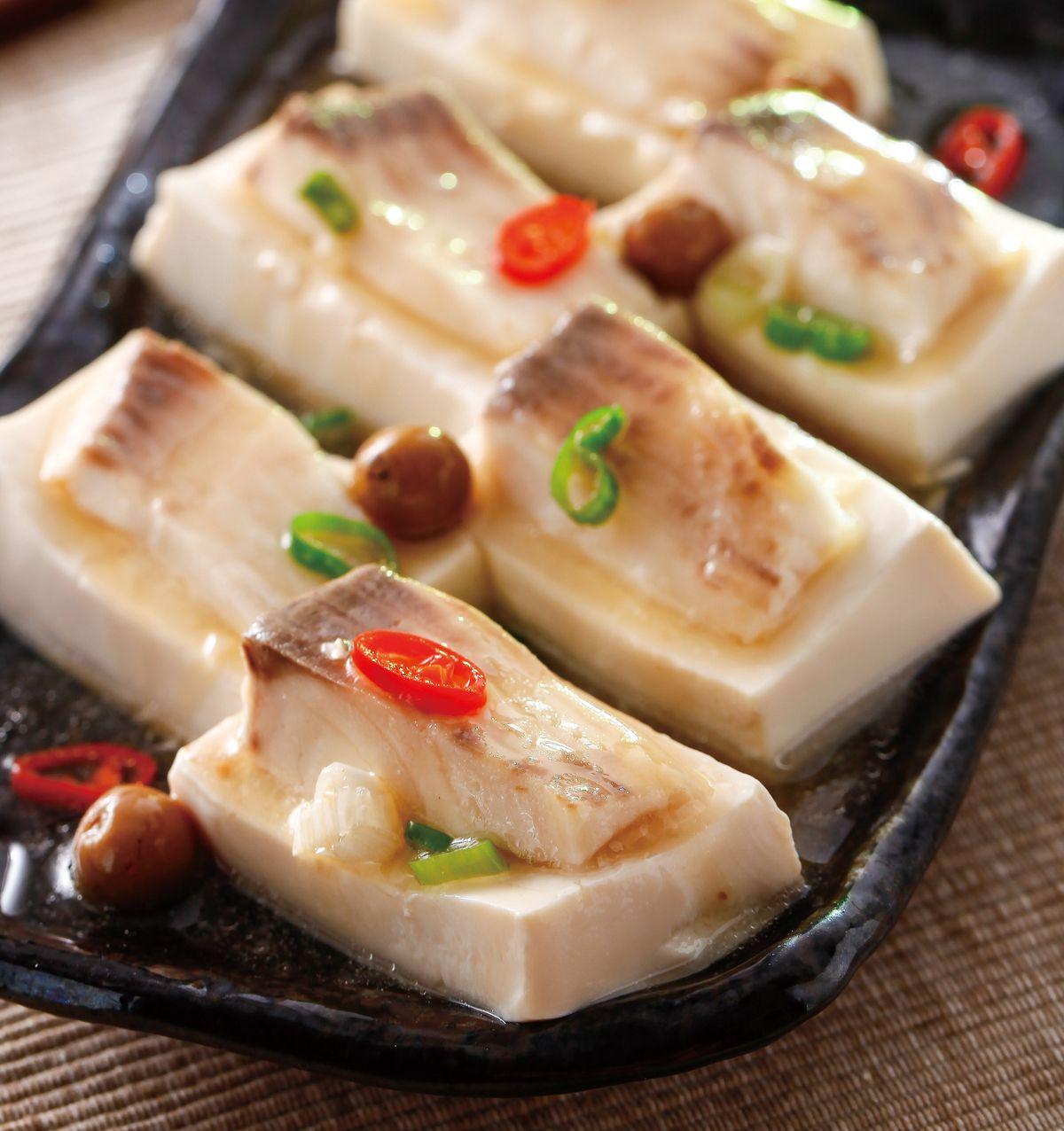 食譜:豆腐蒸魚片