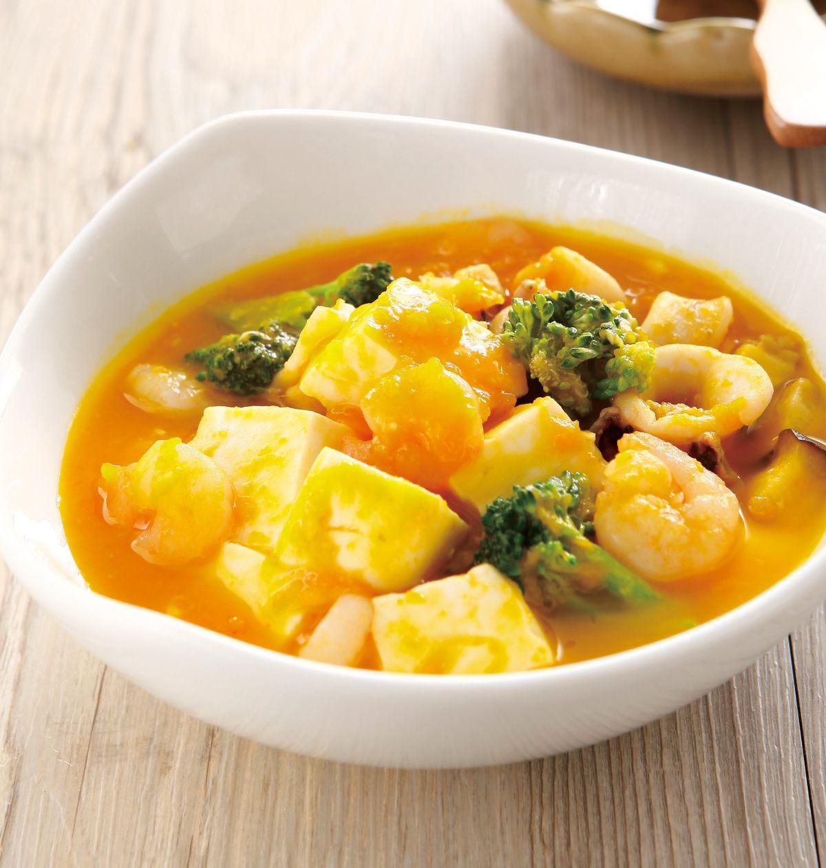 食譜:南瓜海鮮豆腐
